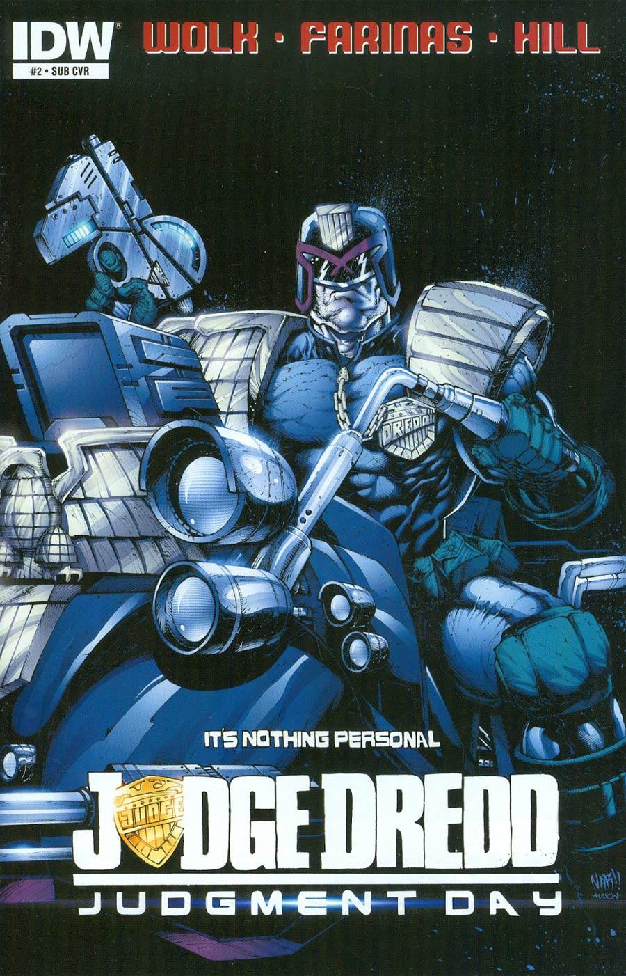 Judge Dredd Mega-City Two #2 Cover B Variant NAR Subscription Cover