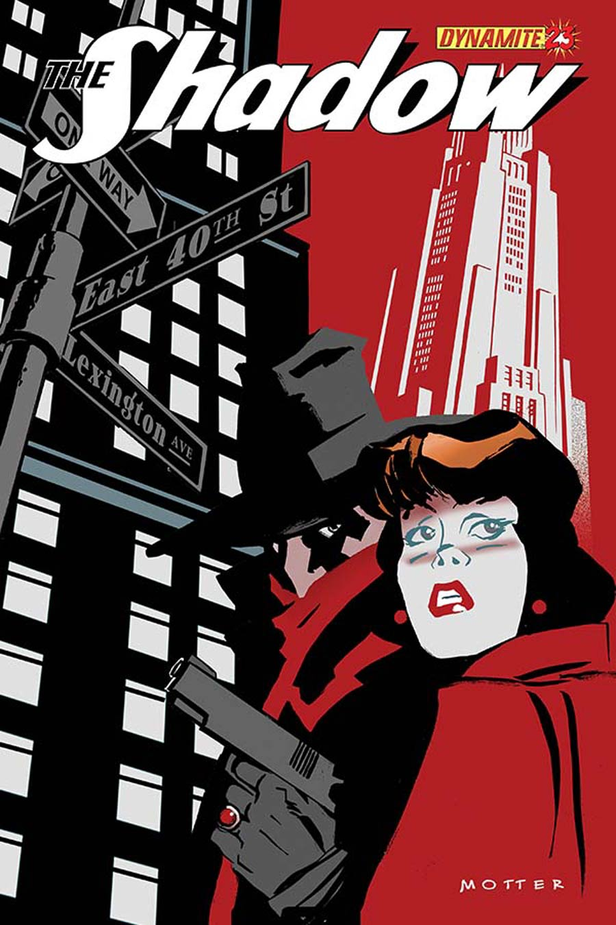 Shadow Vol 5 #23 Cover B Variant Dean Motter Cover