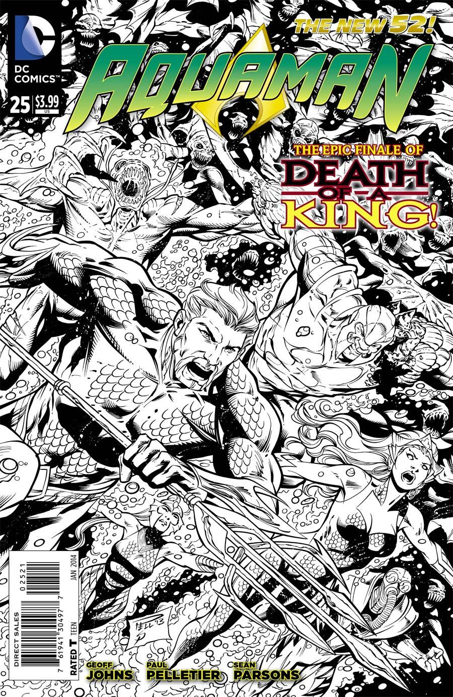 Aquaman Vol 5 #25 Cover B Incentive Paul Pelletier Sketch Cover