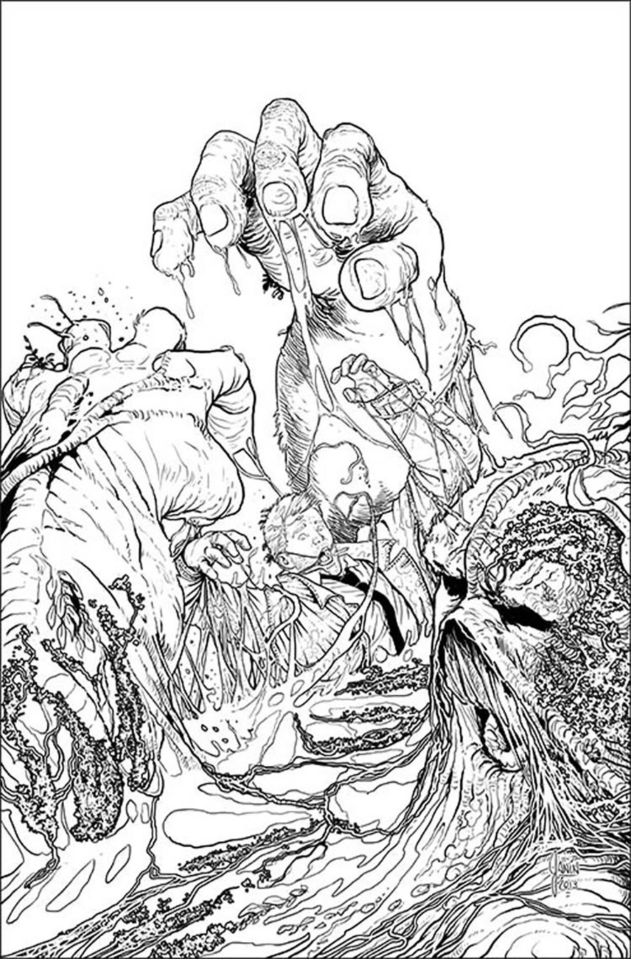 Justice League Dark #25 Cover B Incentive Mikel Janin Sketch Cover (Forever Evil Tie-In)