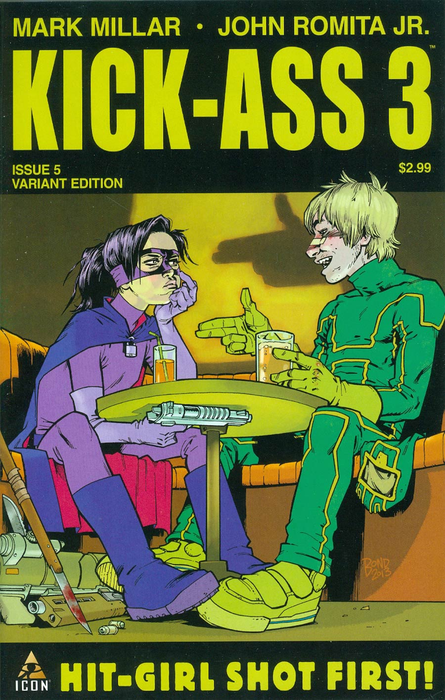 Kick-Ass 3 #5 Cover B Incentive Philip Bond Variant Cover
