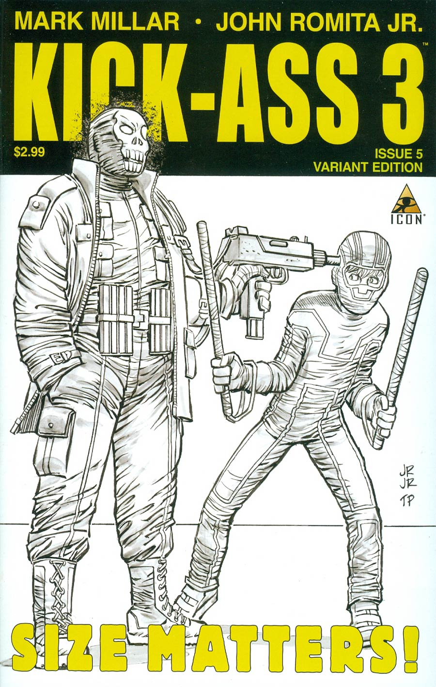 Kick-Ass 3 #5 Cover C Incentive John Romita Jr Sketch Cover