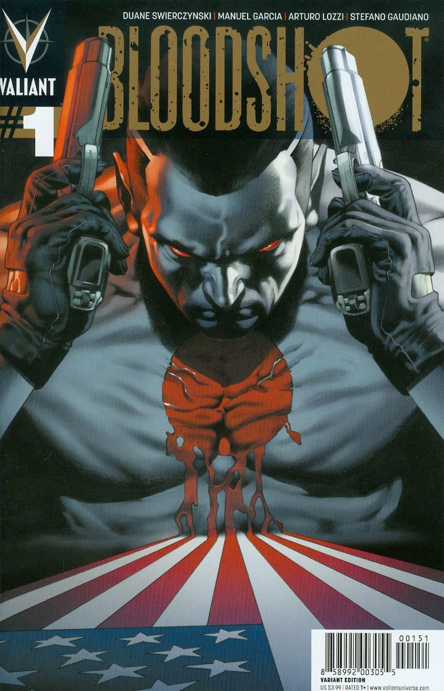 Bloodshot Vol 3 #1 Cover F Incentive Arturo Lozzi Linewide Gold Variant Cover