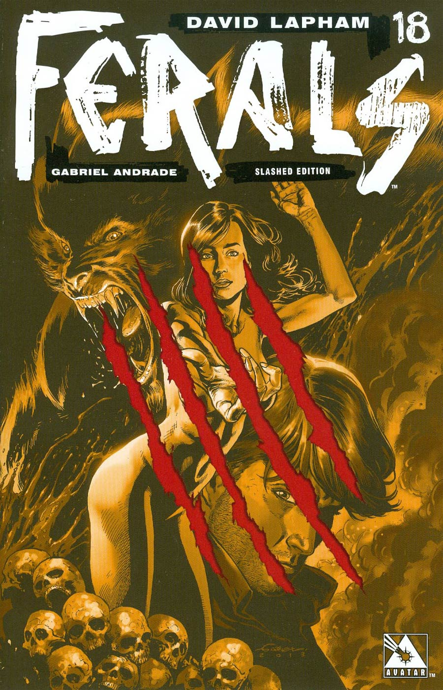 Ferals #18 Cover D Incentive Slashed Cover