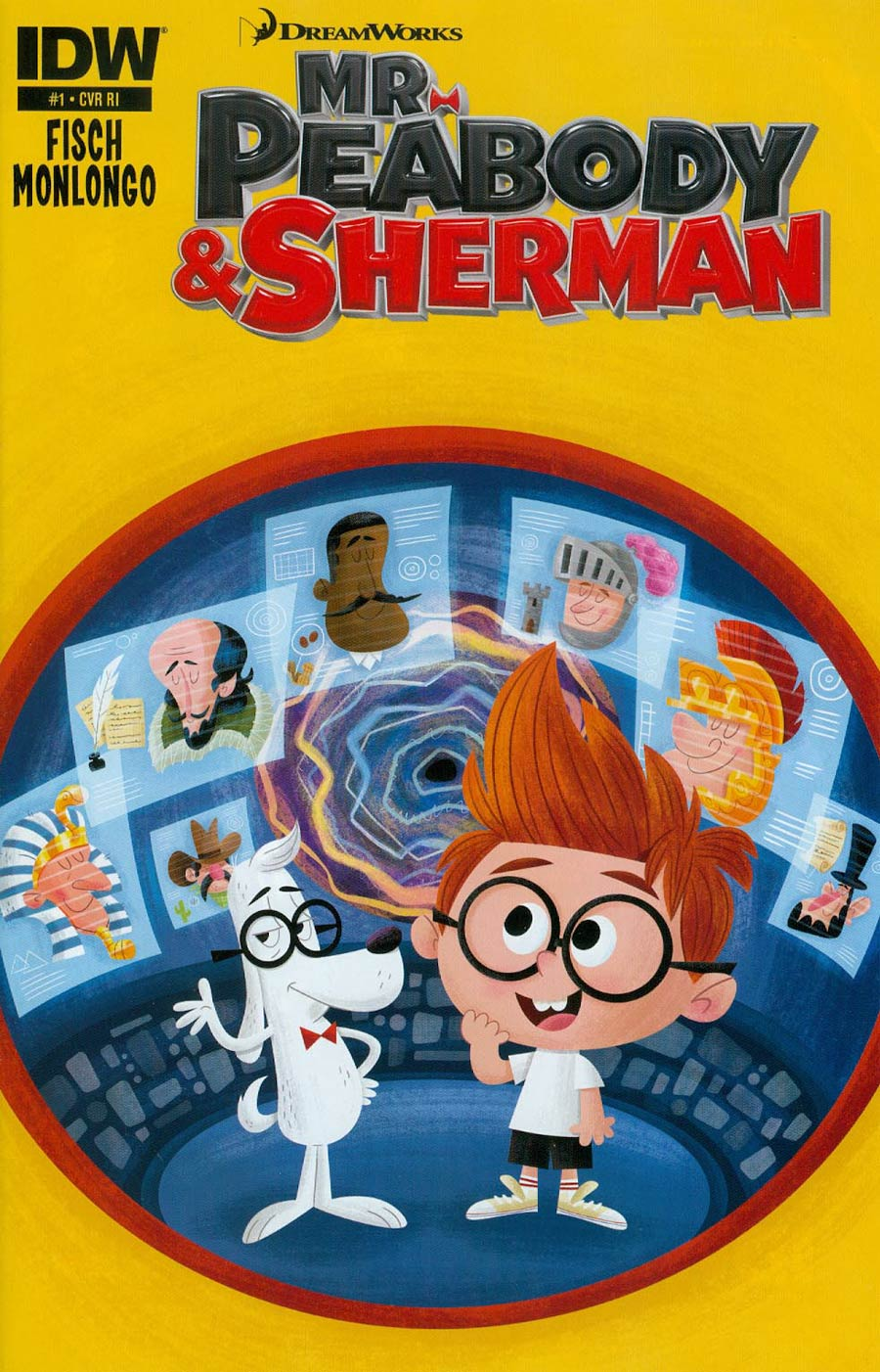 Mr Peabody & Sherman #1 Cover C Incentive Matt Kaufenberg Variant Cover