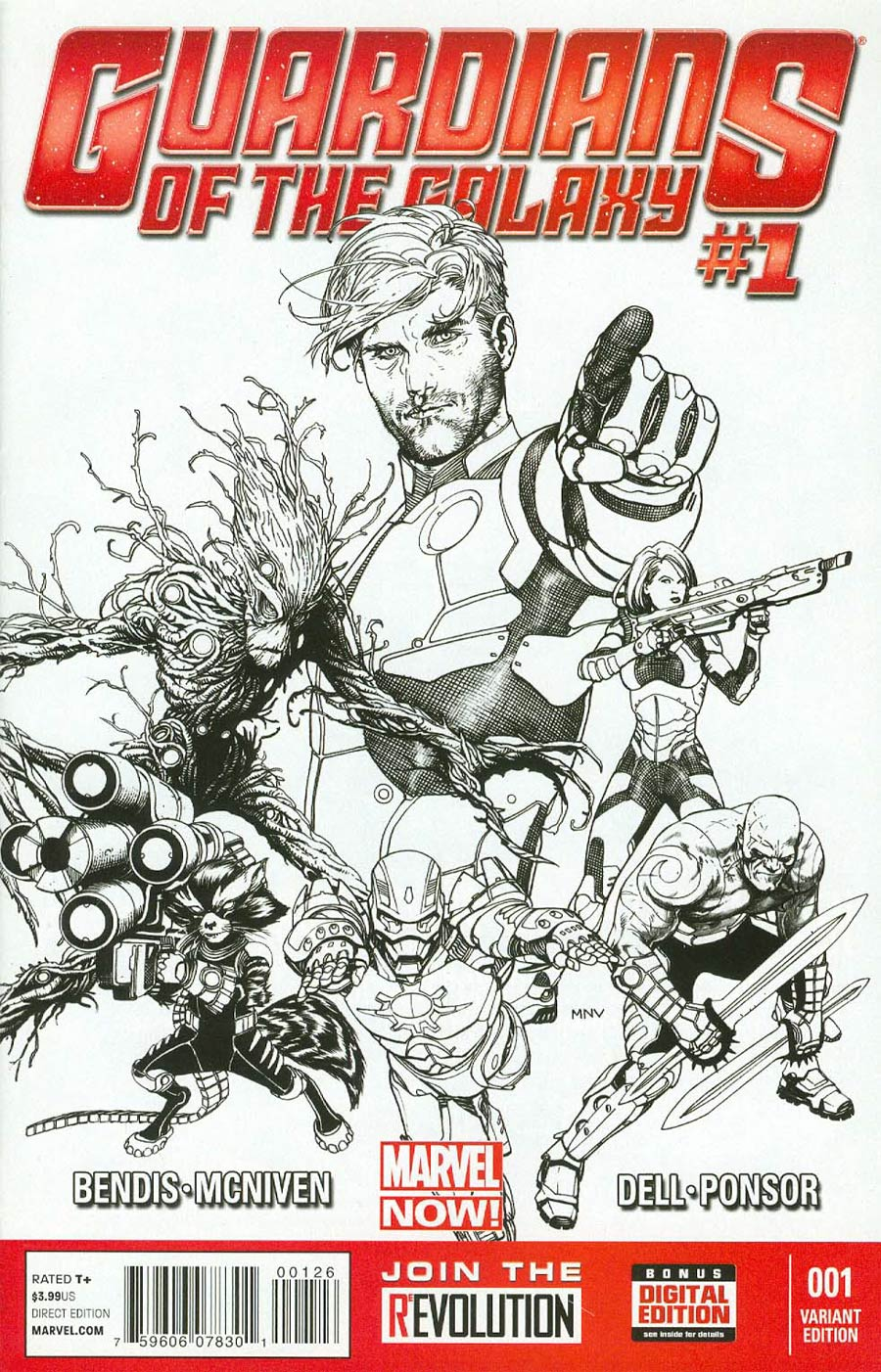 Guardians Of The Galaxy Vol 3 #1 Cover R Incentive Steve McNiven MRRC Sketch Cover
