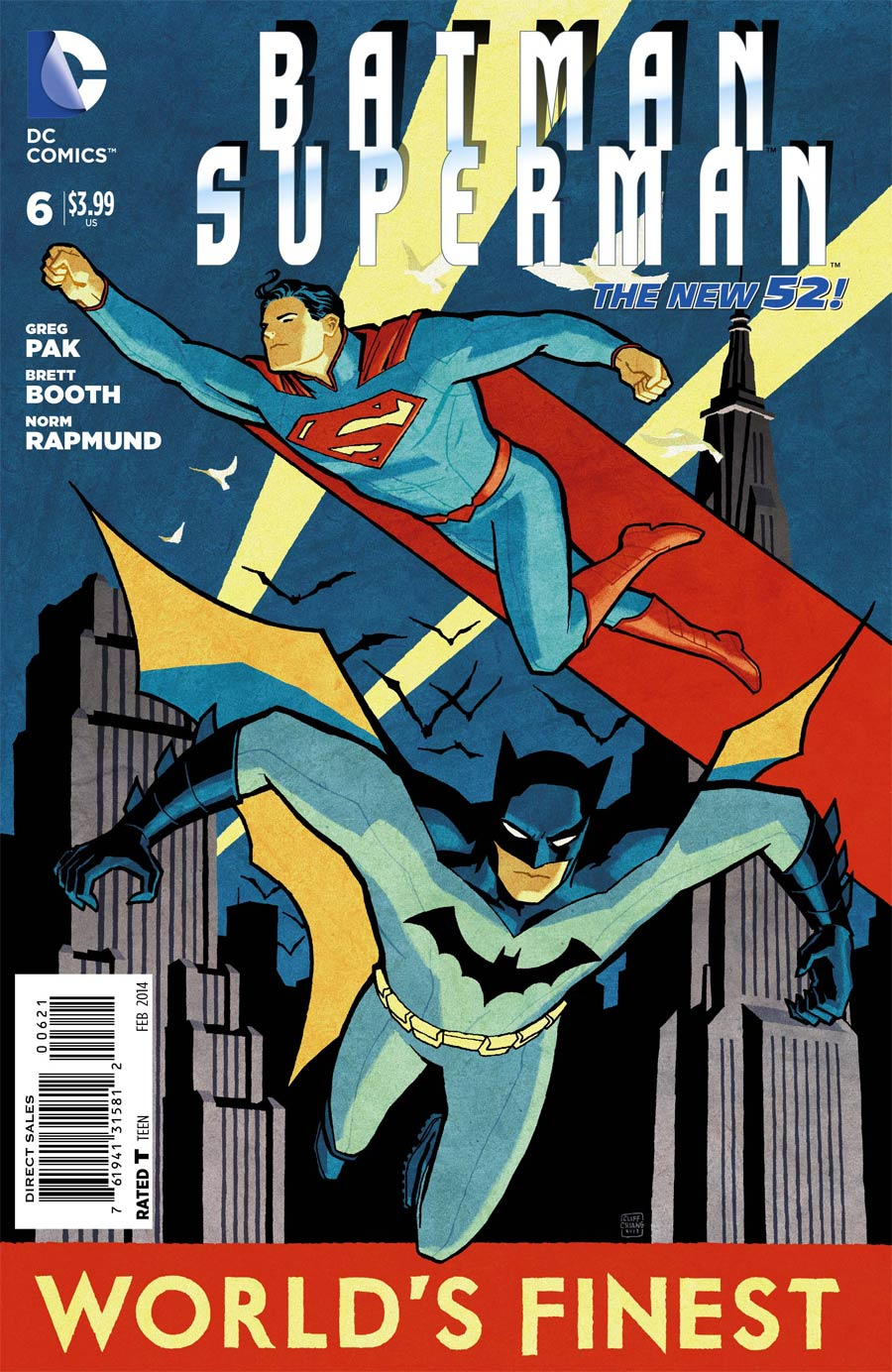 Batman Superman #6 Cover D Incentive Cliff Chiang Variant Cover