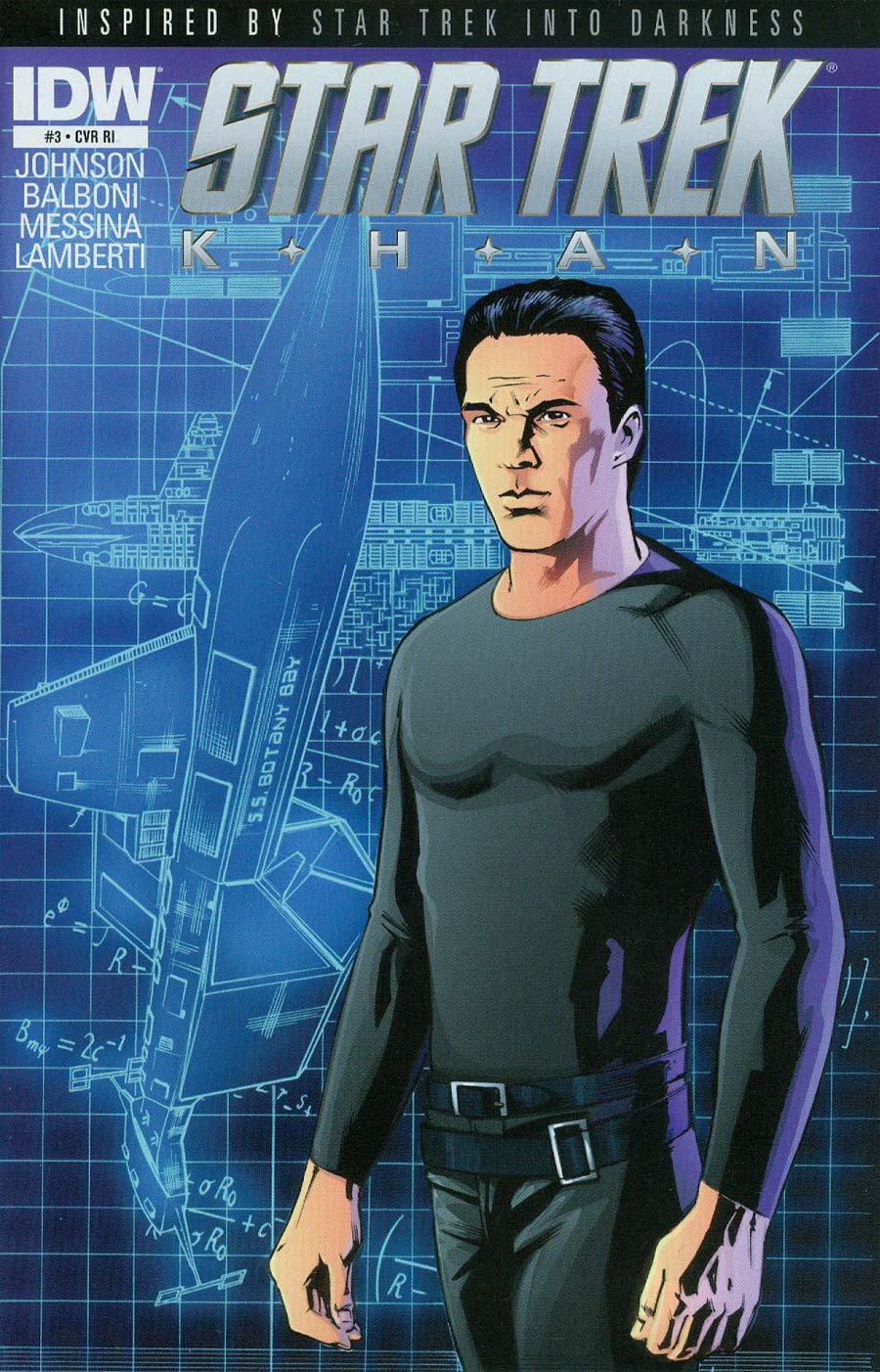 Star Trek Khan #3 Cover C Incentive Andrew Currie Space Seed Variant Cover