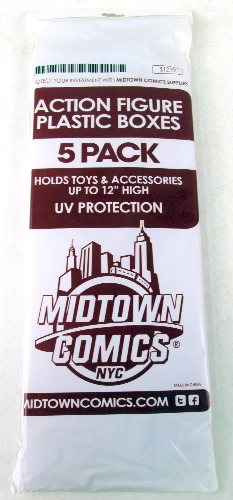 Midtown Comics Action Figure Acrylic Boxes 5-Pack Large