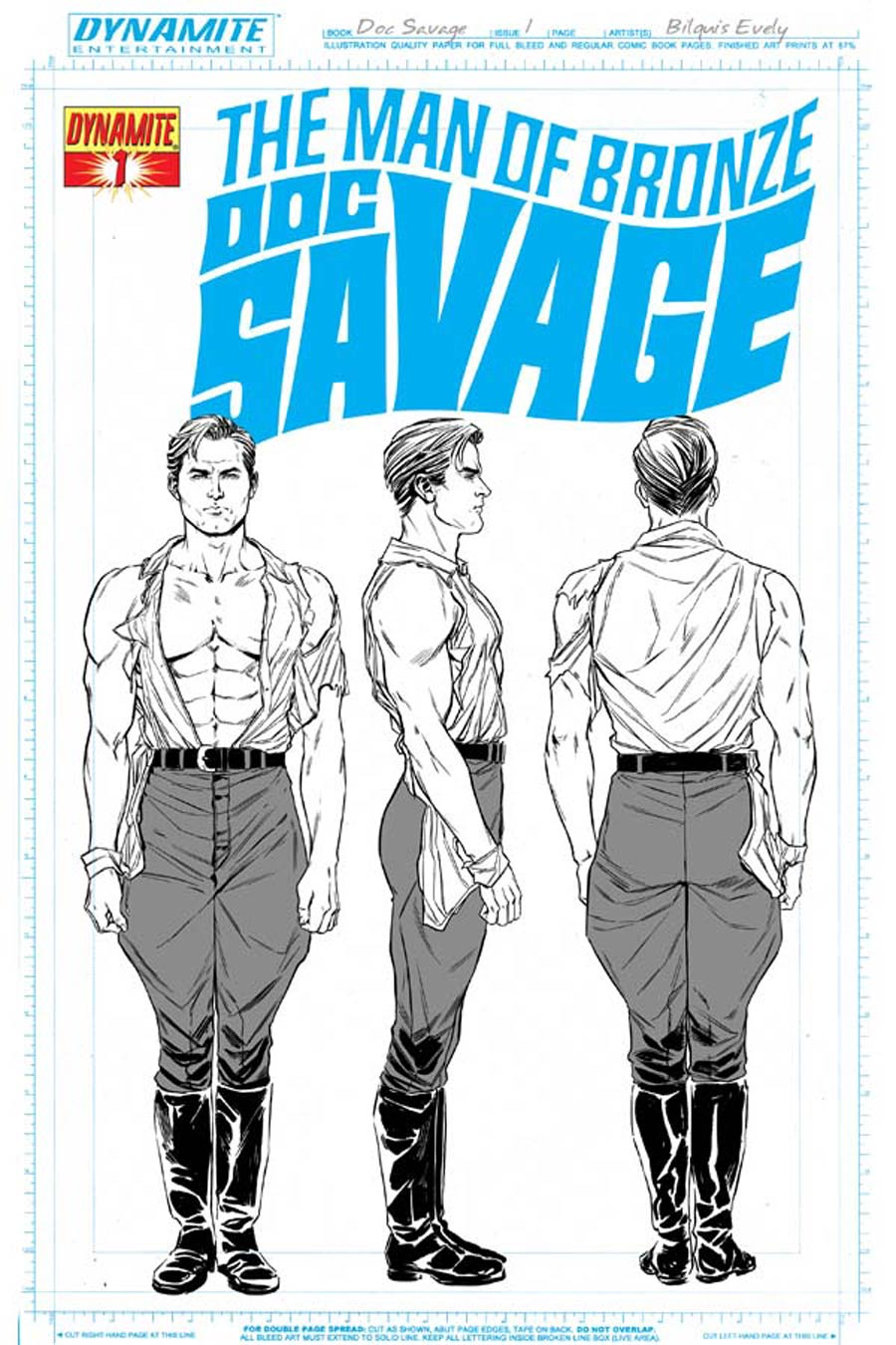 Doc Savage Vol 5 #1 Cover F High-End Bilquis Evely Concept Art Ultra-Limited Cover (ONLY 25 COPIES IN EXISTENCE!)