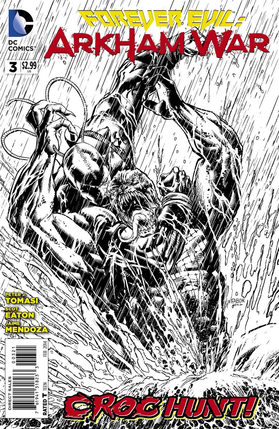 Forever Evil Arkham War #3 Cover B Incentive Jason Fabok Sketch Cover
