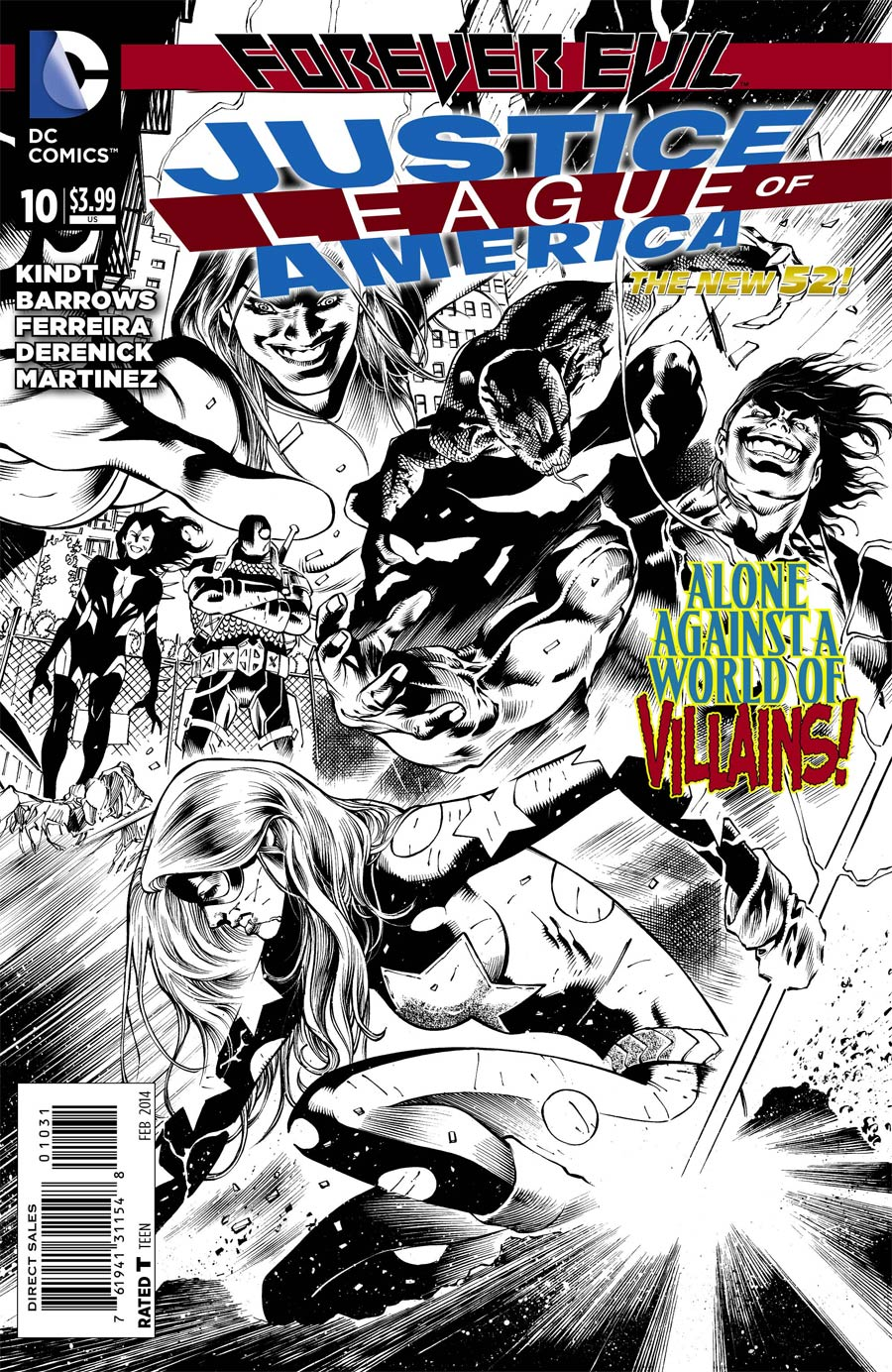 Justice League Of America Vol 3 #10 Cover E Incentive Eddy Barrows Sketch Cover (Forever Evil Tie-In)