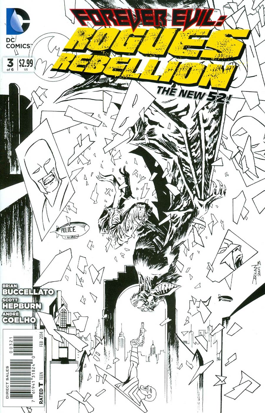 Forever Evil Rogues Rebellion #3 Cover B Incentive Declan Shalvey Sketch Cover
