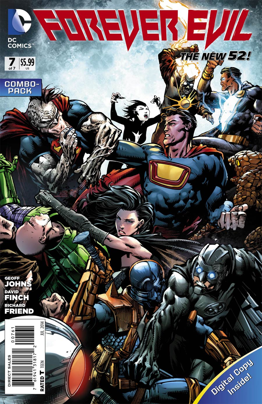 Forever Evil #7 Cover B Combo Pack With Polybag
