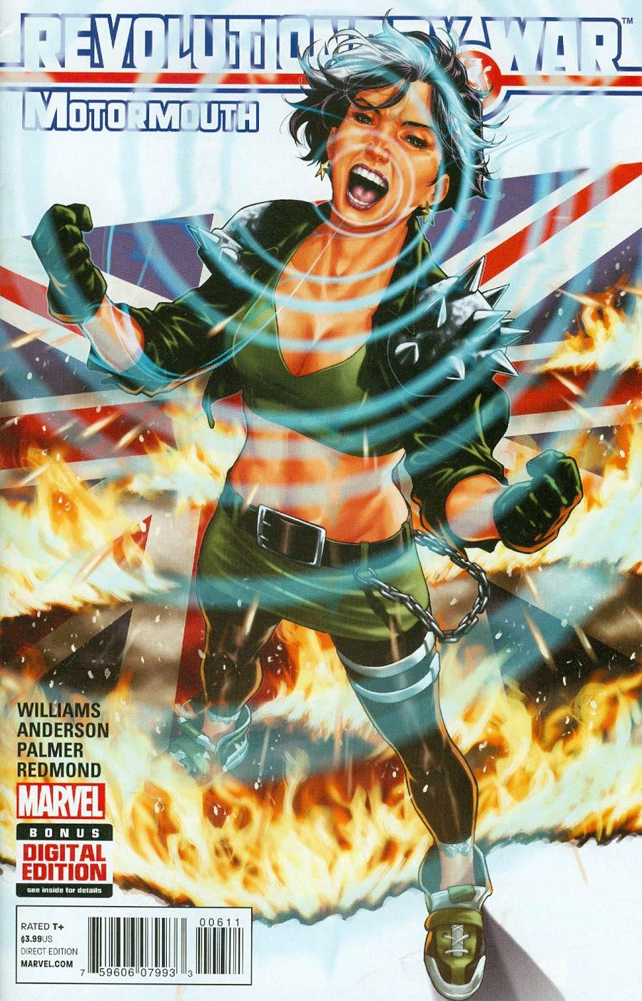 Revolutionary War Motormouth #1 Cover A Regular Mark Brooks Cover (Revolutionary War Part 6)