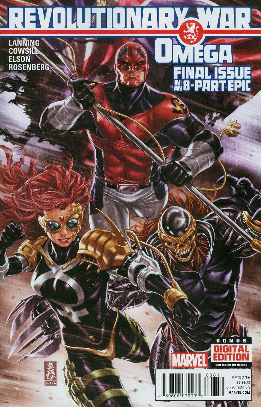 Revolutionary War Omega #1 Cover A Regular Mark Brooks Cover (Revolutionary War Part 8)