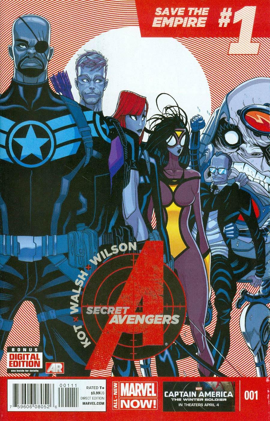 Secret Avengers Vol 3 #1 Cover A Regular Tradd Moore Cover