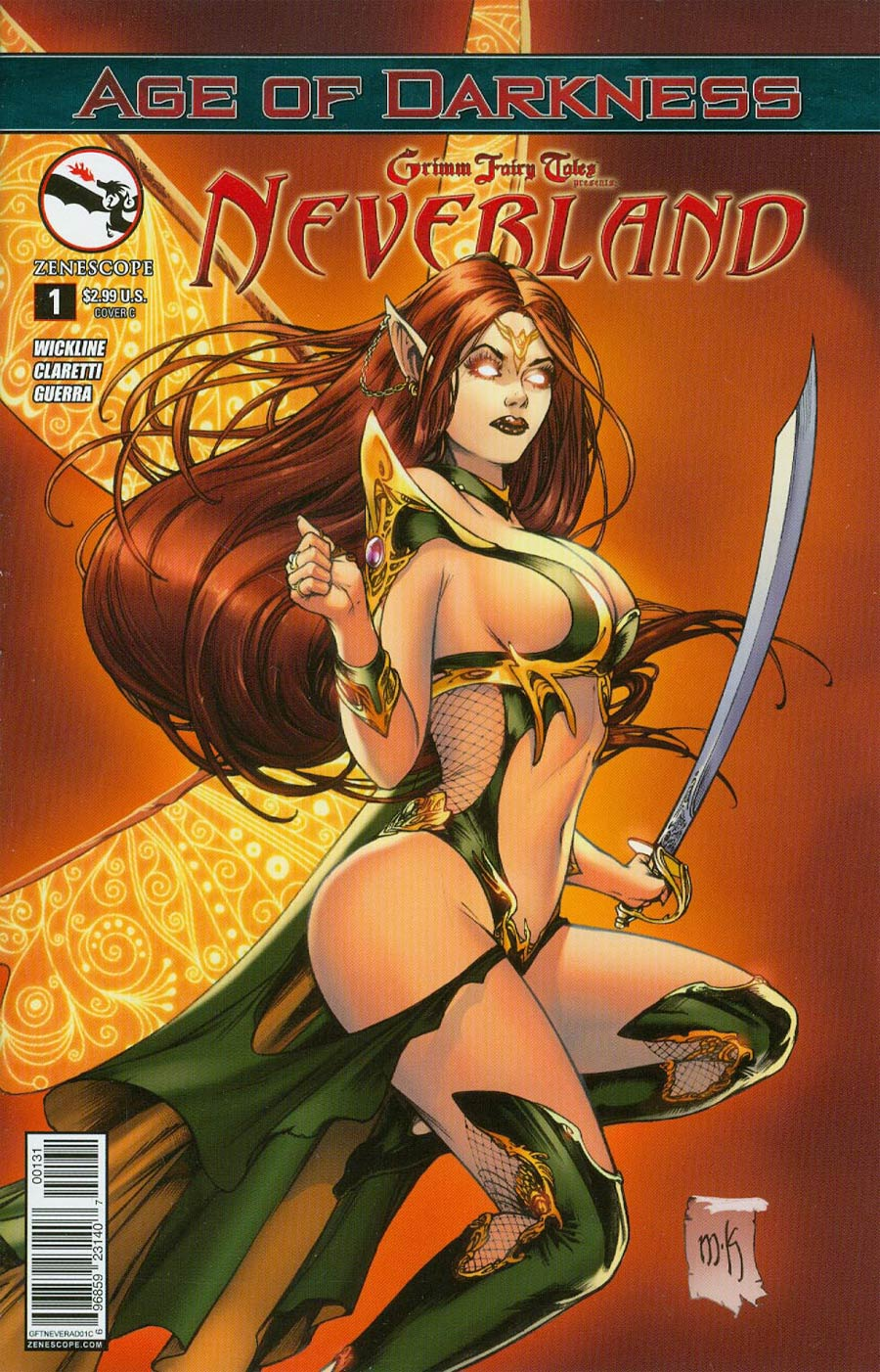 Grimm Fairy Tales Presents Neverland Age Of Darkness #1 Cover C Mike Krome (Age Of Darkness Tie-In)