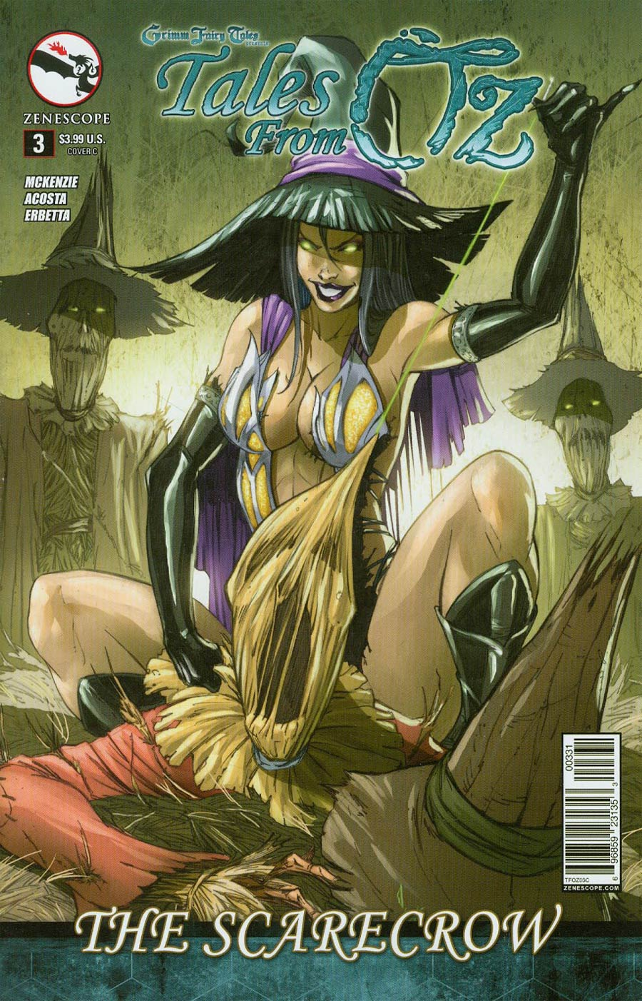 Grimm Fairy Tales Presents Tales From Oz #3 Scarecrow Cover C Pasquale Qualano
