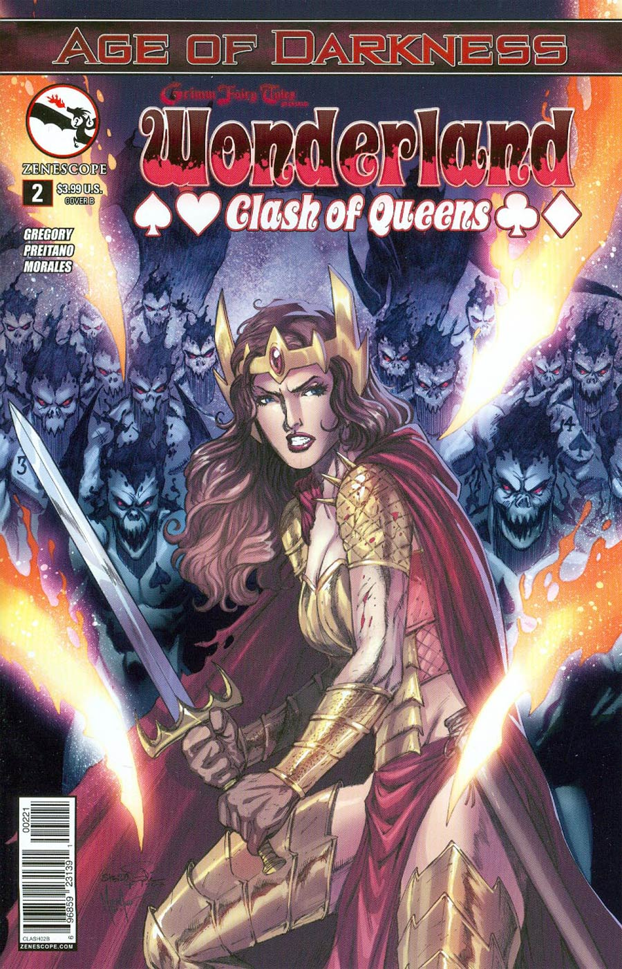 Grimm Fairy Tales Presents Wonderland Clash Of Queens #2 Cover B Sheldon Goh (Age Of Darkness Tie-In)