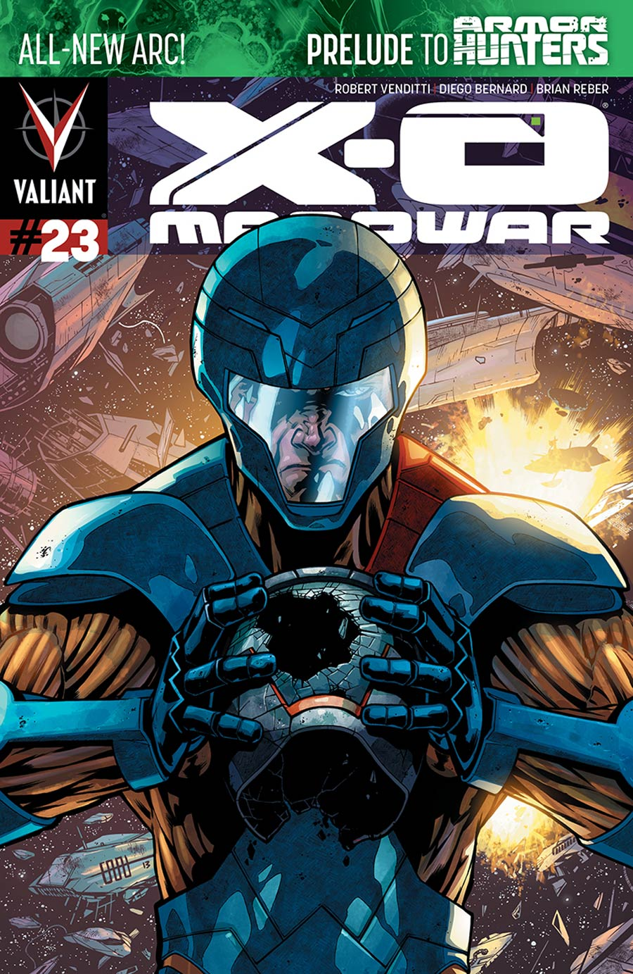 X-O Manowar Vol 3 #23 Cover A 1st Ptg Regular CAFU Cover (Armor Hunters Prelude)