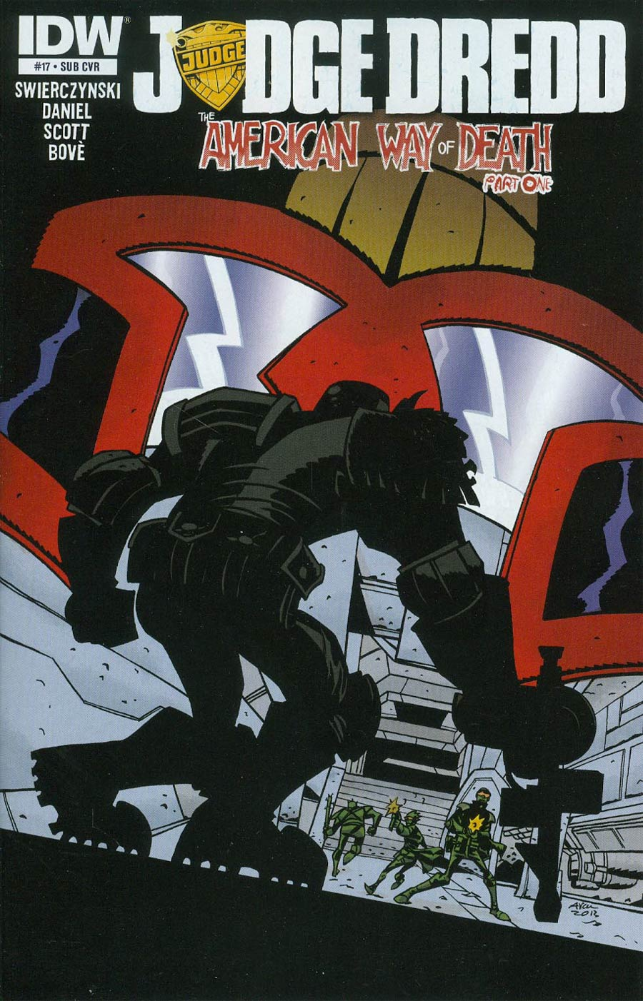 Judge Dredd Vol 4 #17 Cover B Variant Michael Avon Oeming Subscription Cover