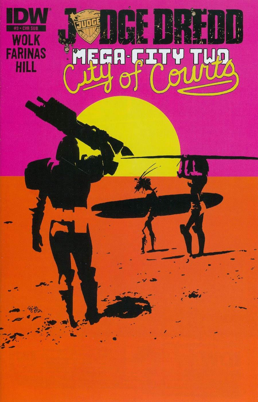 Judge Dredd Mega-City Two #3 Cover B Variant EJ Su Subscription Cover