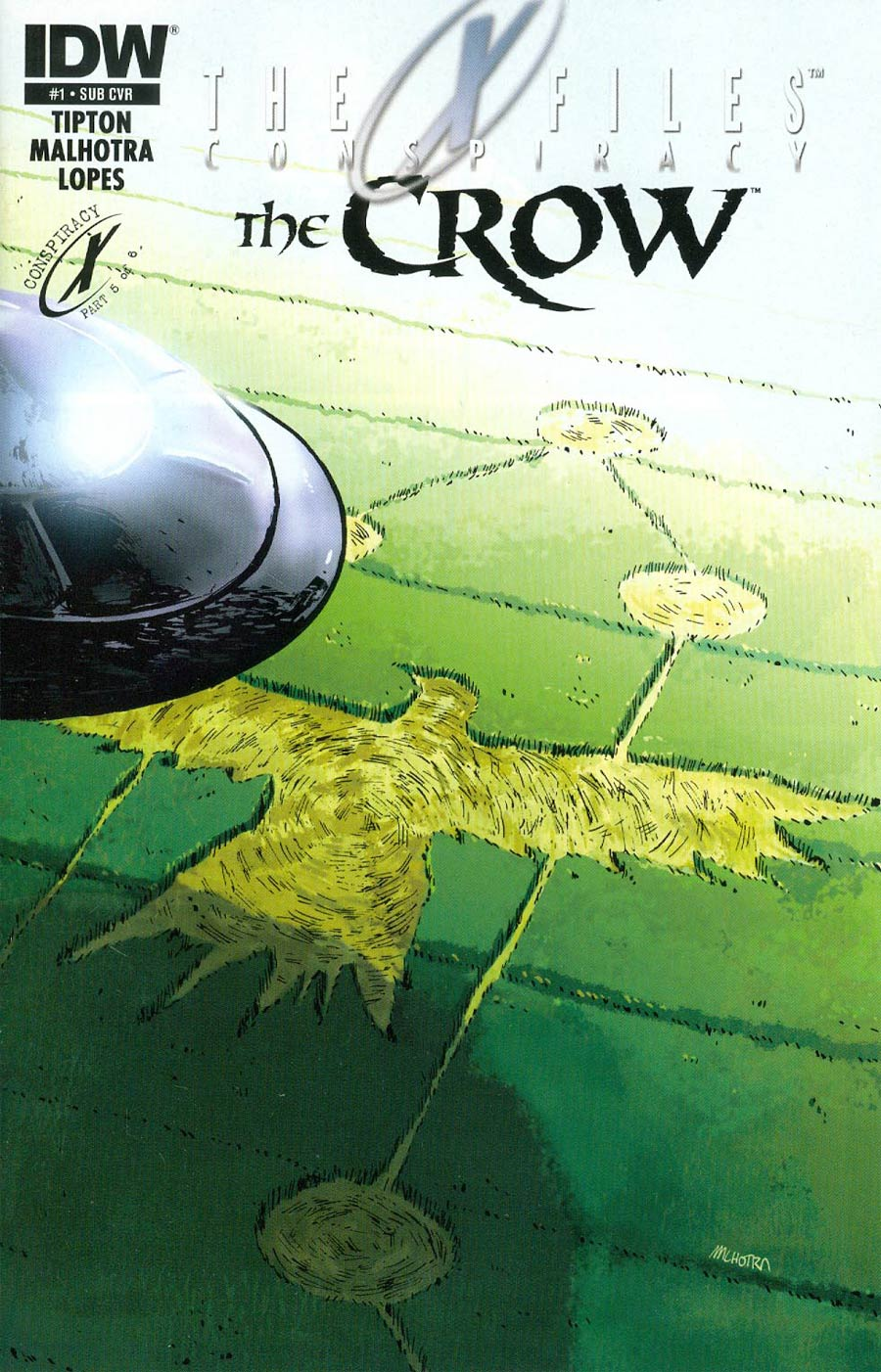 X-Files Conspiracy Crow #1 Cover B Variant Vic Malhotra Subscription Cover