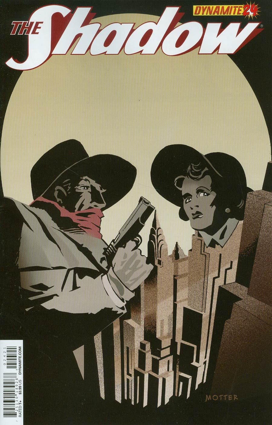 Shadow Vol 5 #24 Cover B Variant Dean Motter Cover