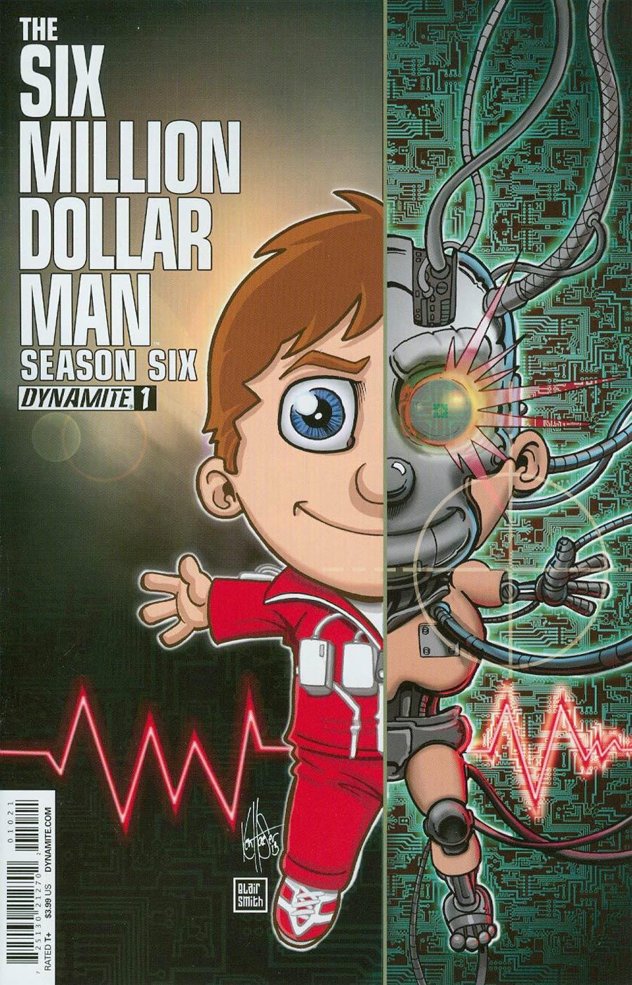 Six Million Dollar Man Season 6 #1 Cover B Variant Ken Haeser Cover