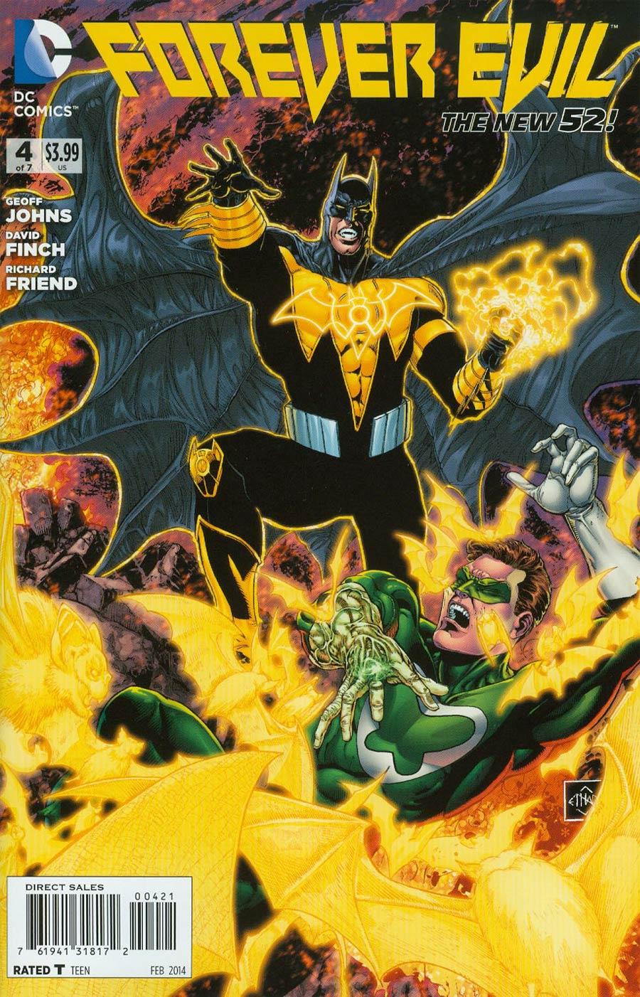 Forever Evil #4 Cover D Incentive Yellow Lantern Batman vs Green Lantern Variant Cover