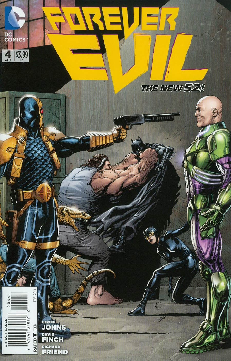 Forever Evil #4 Cover F Incentive Deathstroke vs Lex Luthor Variant Cover