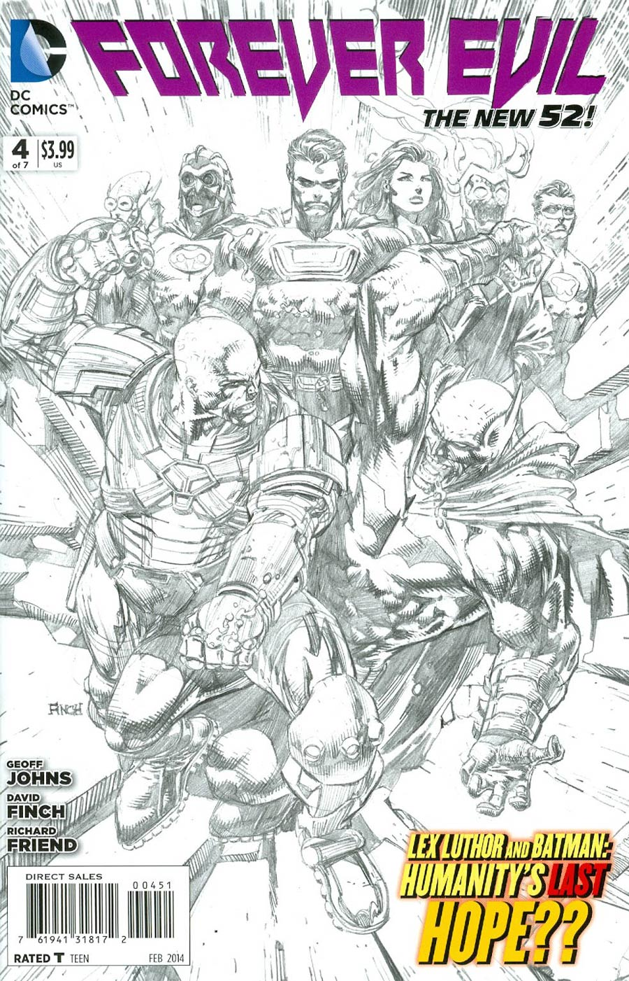 Forever Evil #4 Cover G Incentive David Finch Sketch Cover