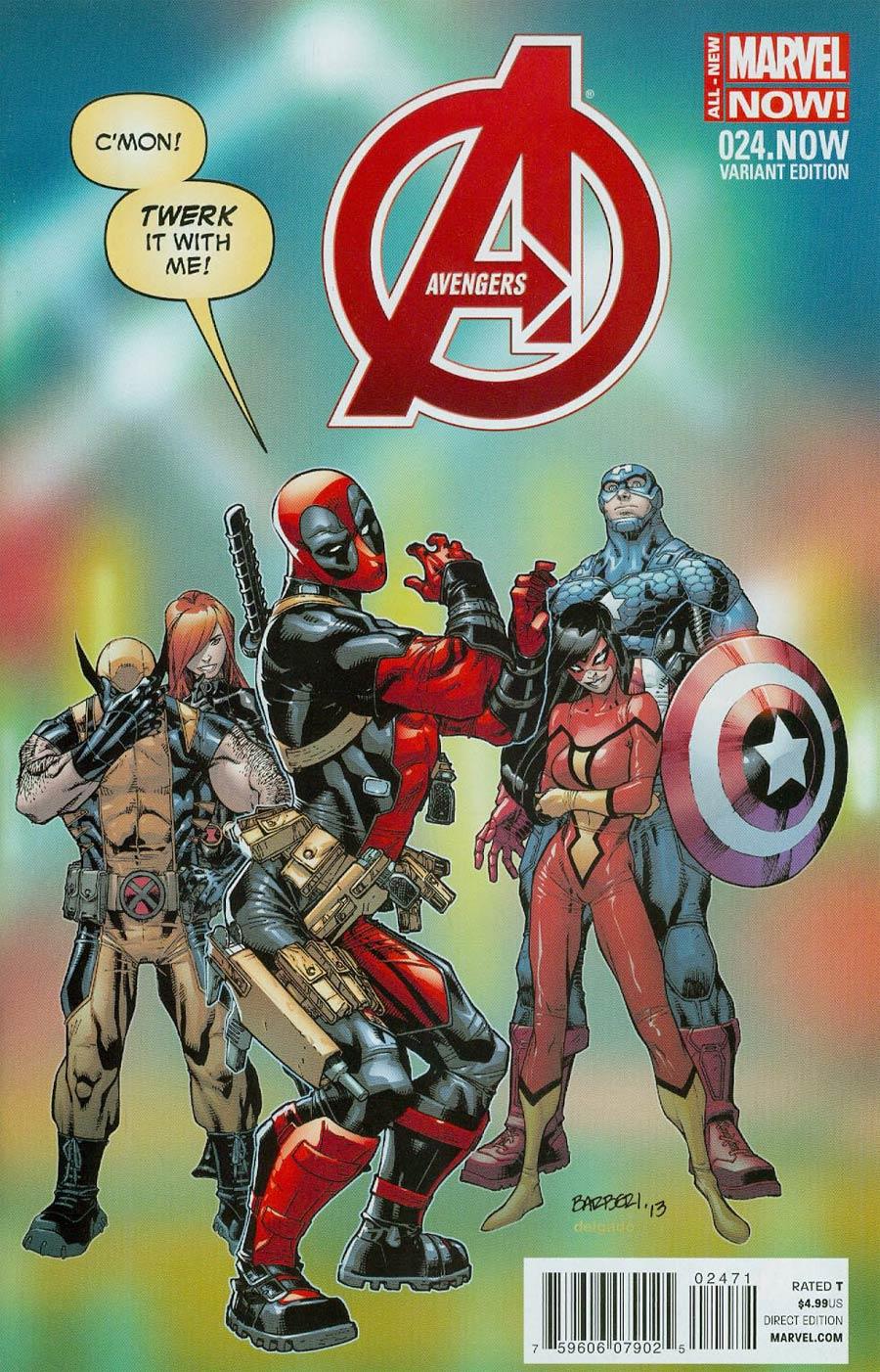 Avengers Vol 5 #24.NOW Cover H Variant Deadpool Cover