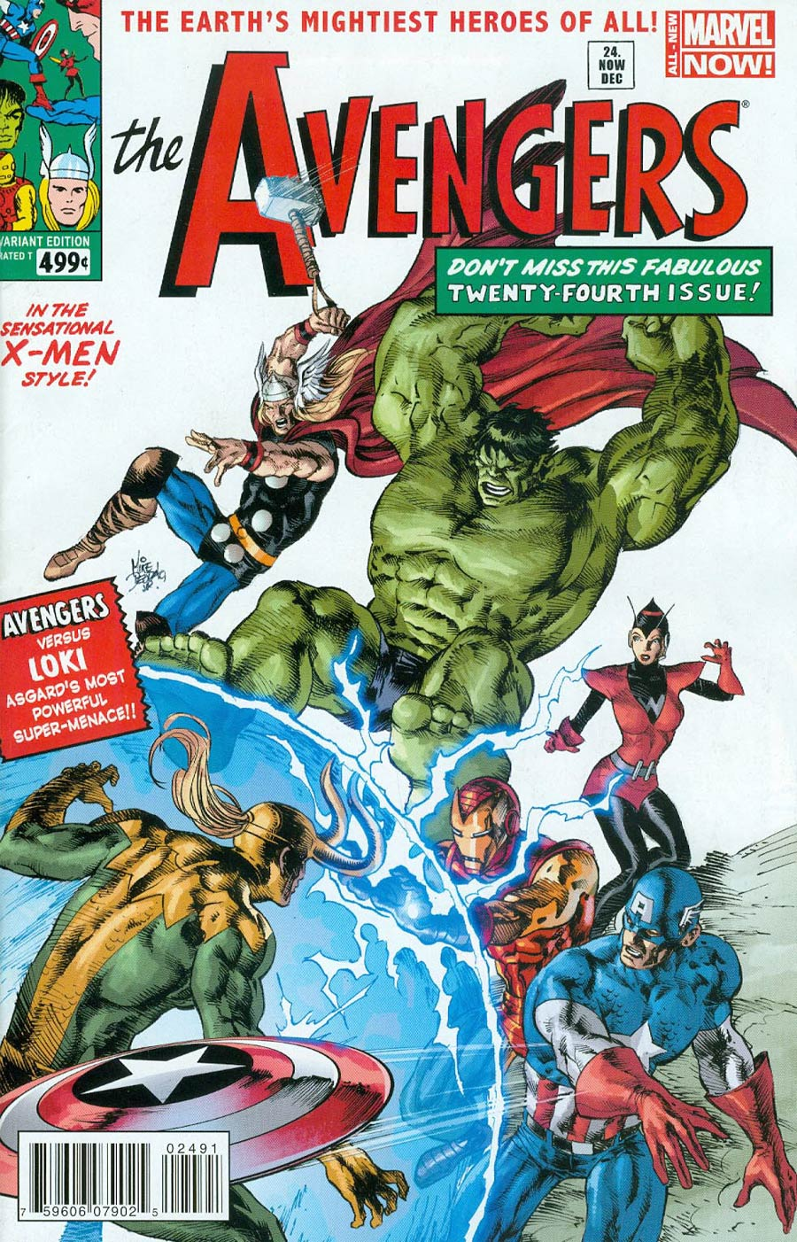 Avengers Vol 5 #24.NOW Cover K Variant Avengers Covers X-Men By Mike Deodato Jr Cover