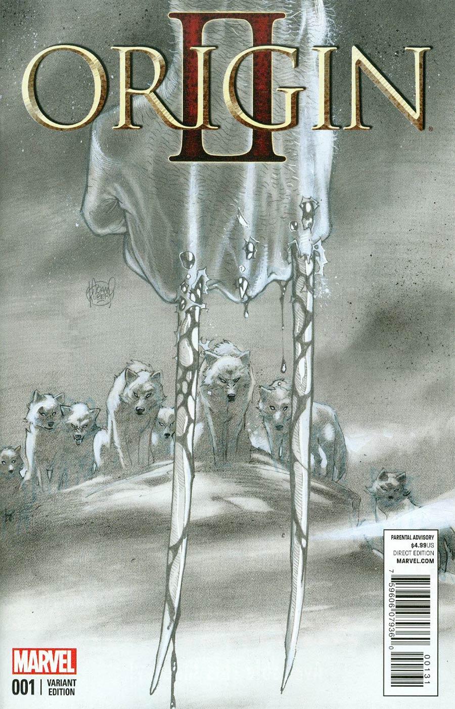 Origin II #1 Cover F Incentive Adam Kubert Sketch Cover