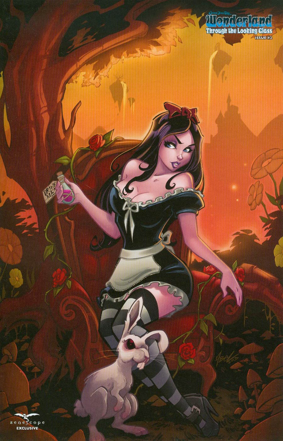 Grimm Fairy Tales Presents Wonderland Through The Looking Glass #2 Cover D Secret Retailer Exclusive Martin Abel Variant Cover