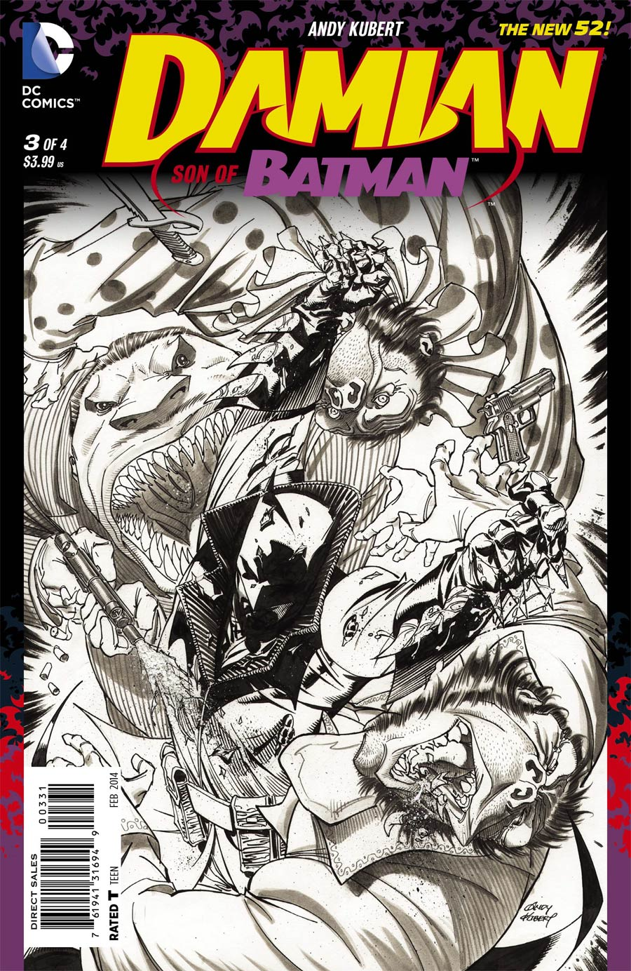 Damian Son Of Batman #3 Cover C Incentive Andy Kubert Sketch Cover