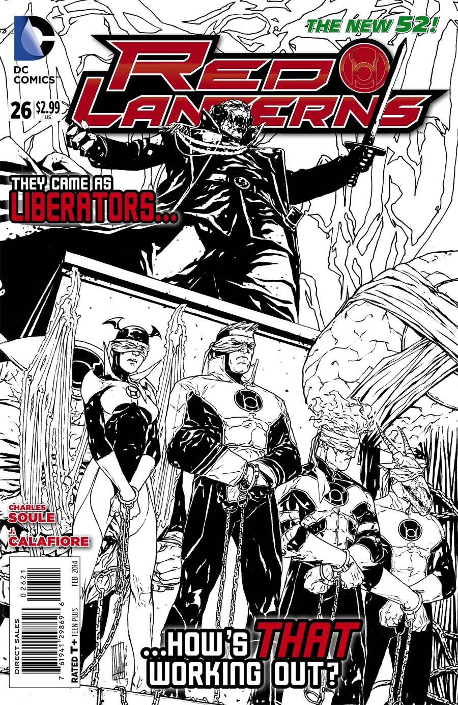 Red Lanterns #26 Cover B Incentive Alessandro Vitti Sketch Cover