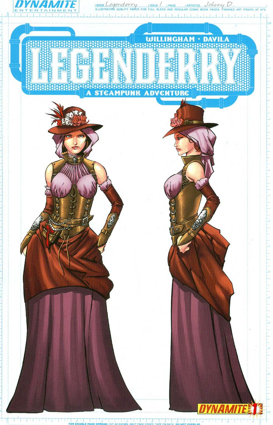 Legenderry A Steampunk Adventure #1 Cover C Incentive Johnny Desjardins Red Sonja Concept Art Variant Cover