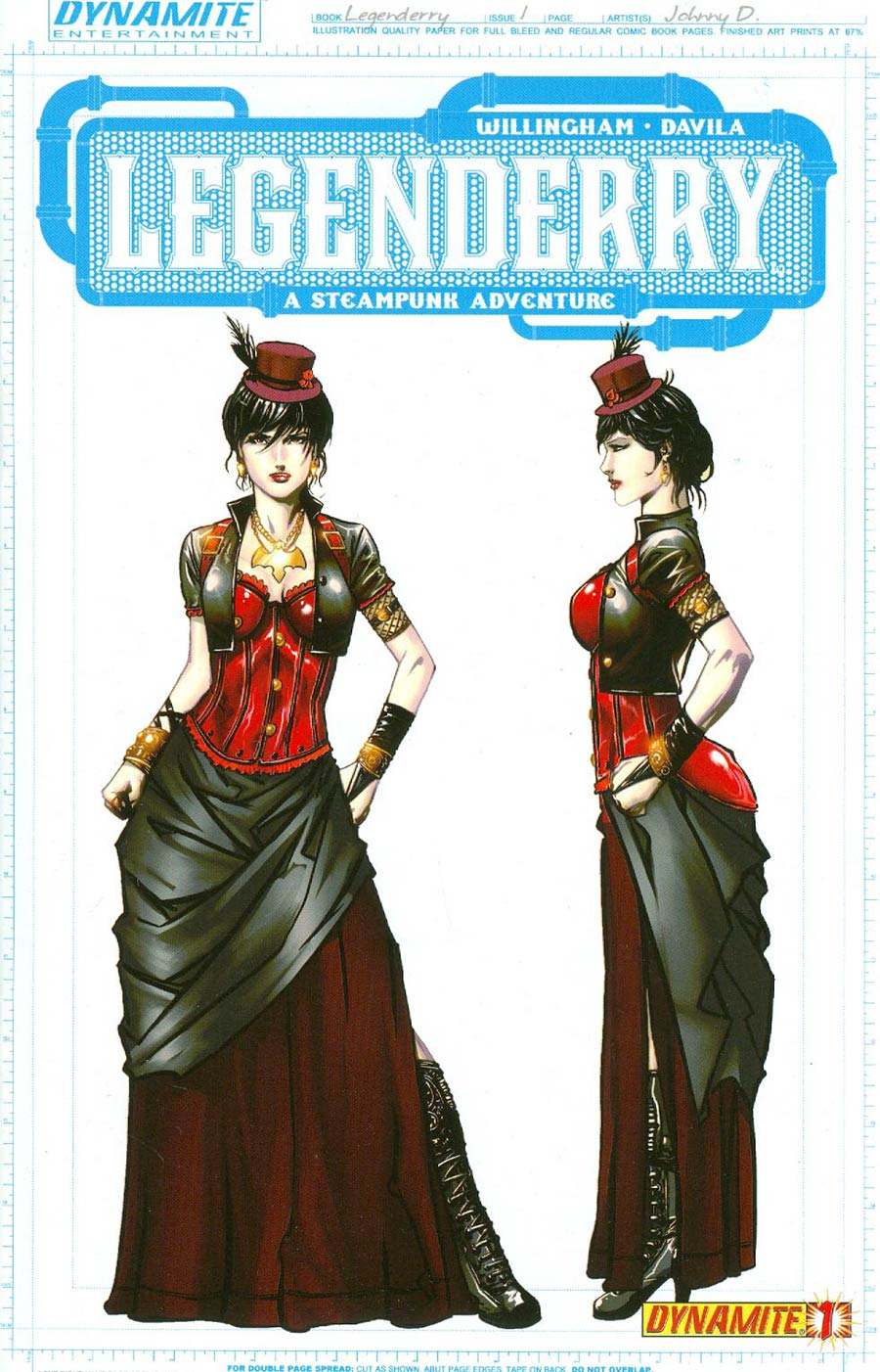 Legenderry A Steampunk Adventure #1 Cover D Incentive Johnny Desjardins Vampirella Concept Art Variant Cover
