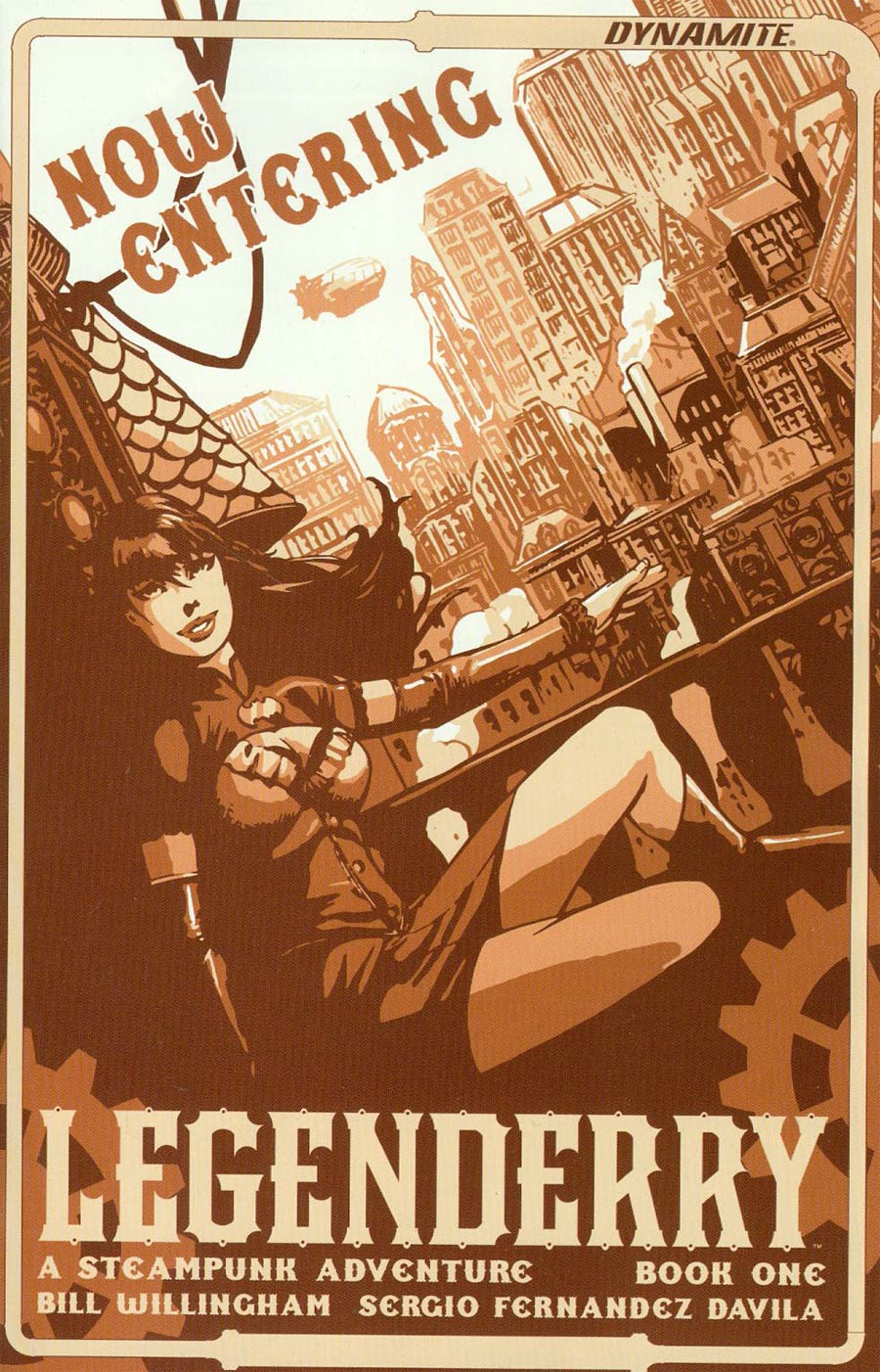 Legenderry A Steampunk Adventure #1 Cover E Incentive Johnny Desjardins Original Art Travelogue Variant Cover