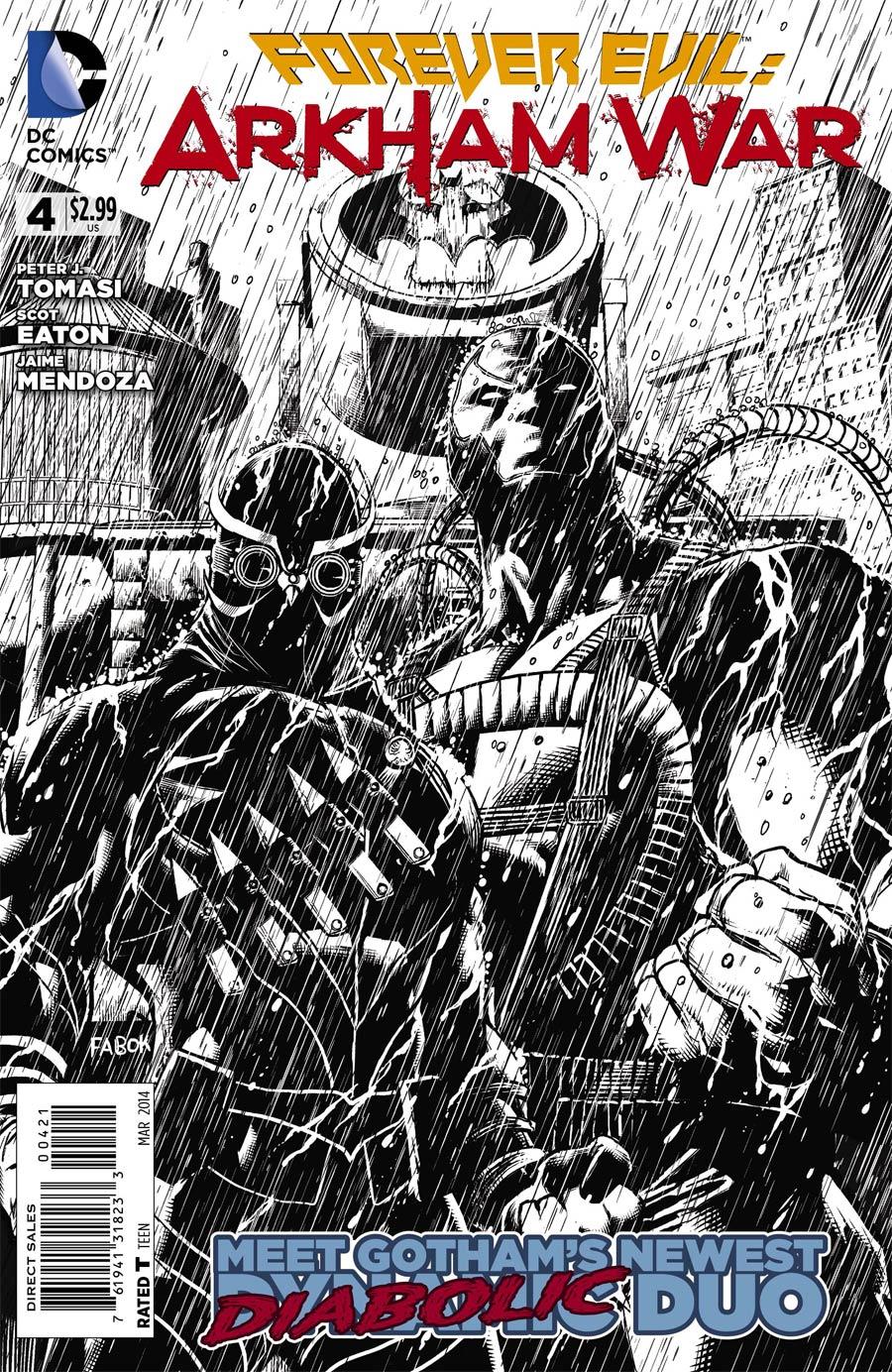 Forever Evil Arkham War #4 Cover B Incentive Jason Fabok Sketch Cover