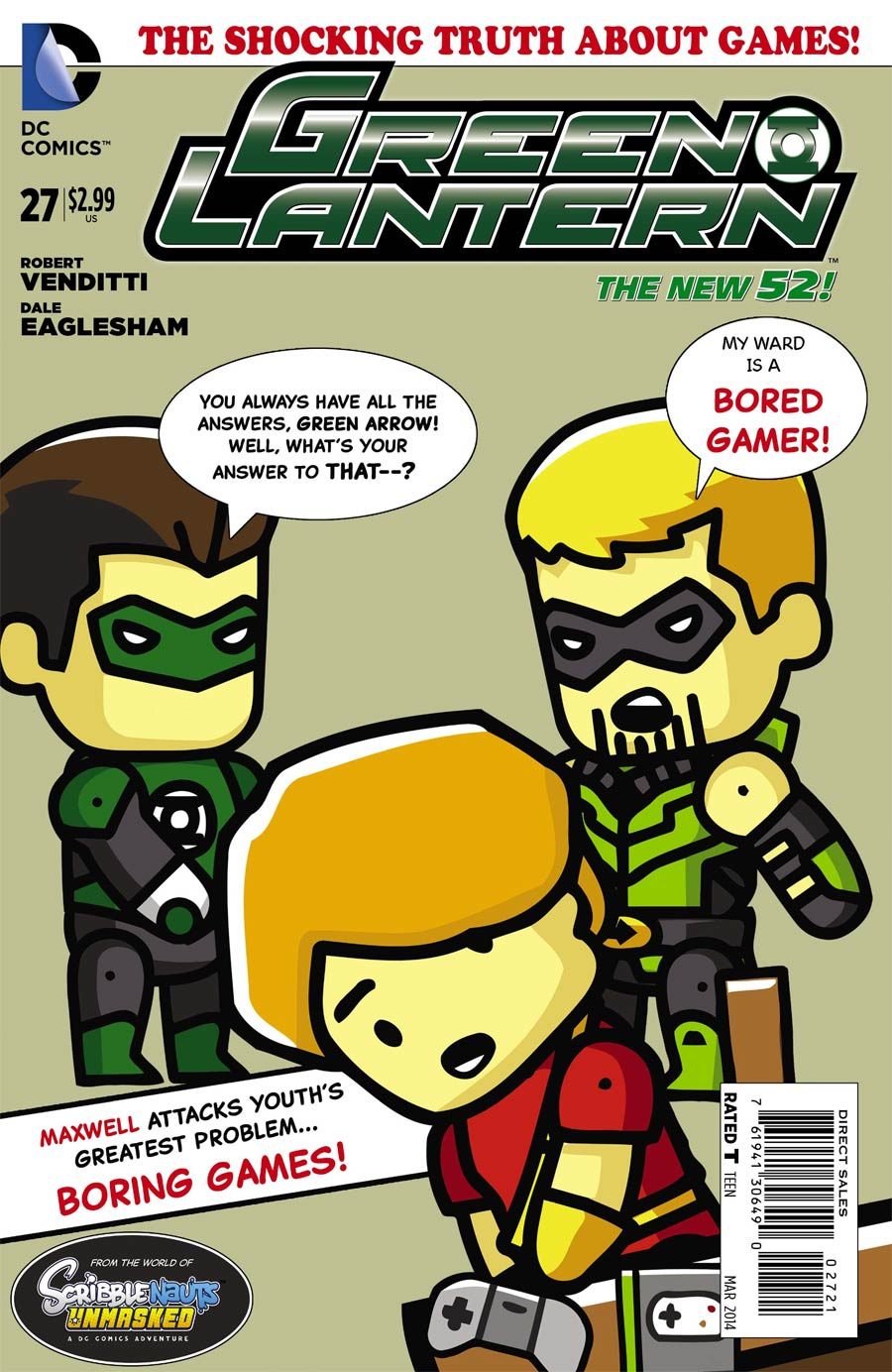 Green Lantern Vol 5 #27 Cover D Incentive Scribblenauts Unmasked Variant Cover