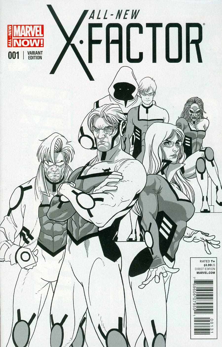 All-New X-Factor #1 Cover F Incentive Salvador Larroca Sketch Variant Cover