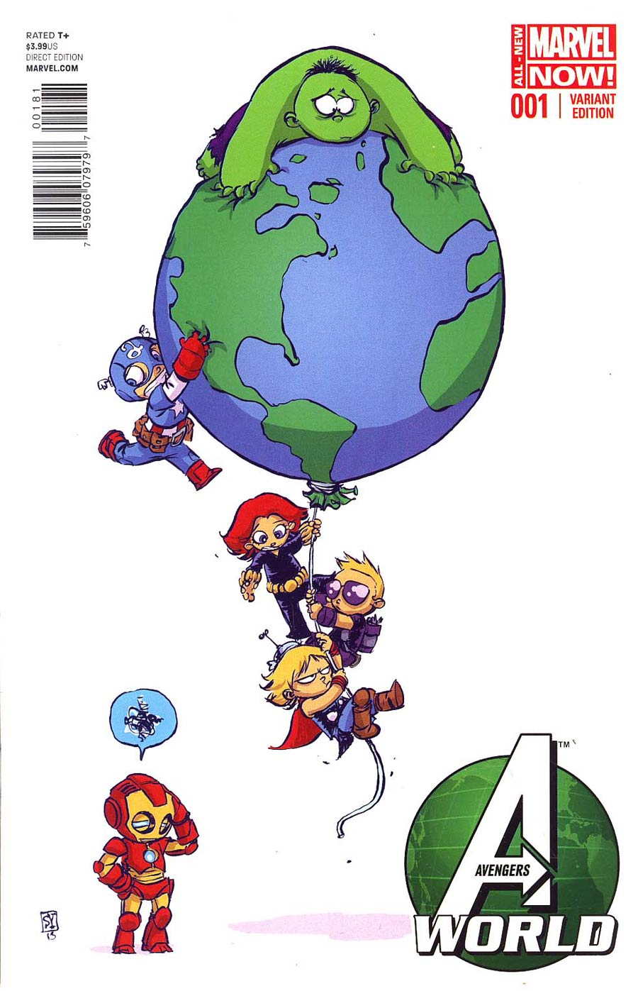 Avengers World #1 Cover C Variant Skottie Young Baby Cover