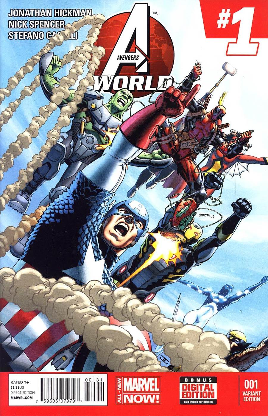 Avengers World #1 Cover D Variant Deadpool Cover