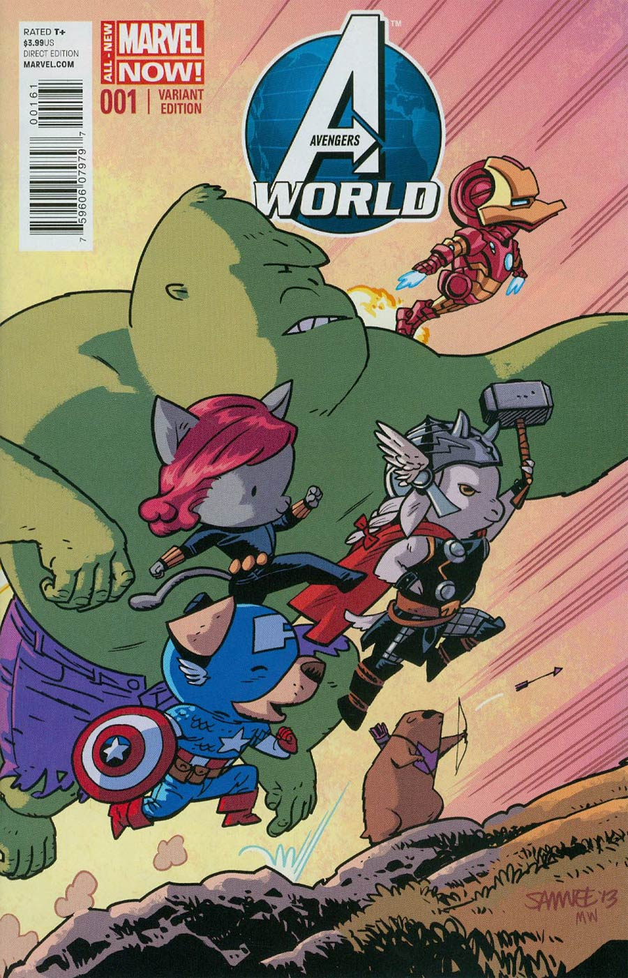 Avengers World #1 Cover E Incentive Animal Variant Cover