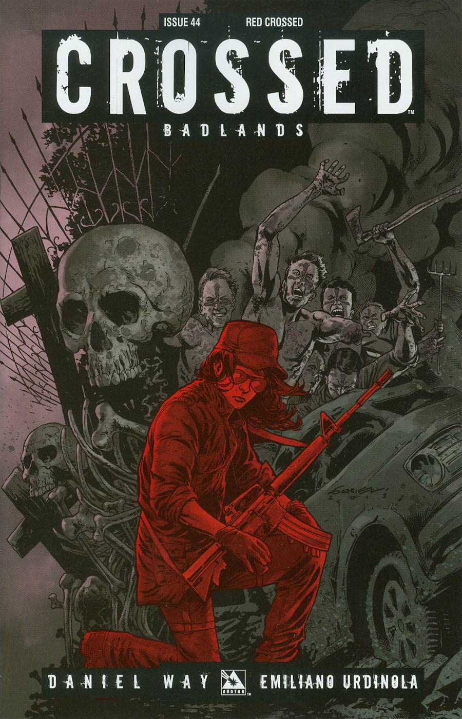 Crossed Badlands #44 Cover D Incentive Red Crossed Edition