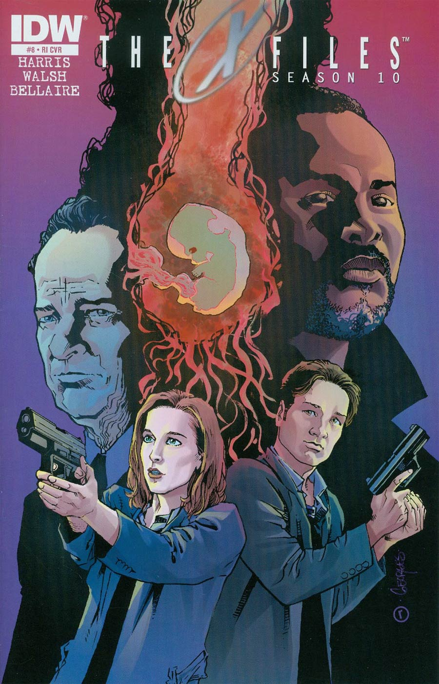 X-Files Season 10 #8 Cover C Incentive Georges Jeanty Variant Cover